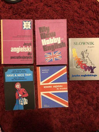 Wiedza powszechna stare wydania podręcznik do angielskiego komplet