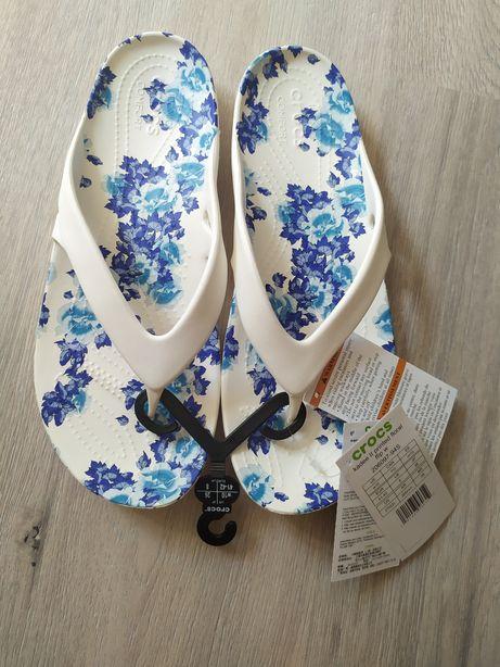 Оригинал Кроксы Crocs kadee floral flip w10 40 размер