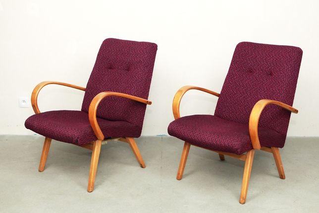 Fotele TON model 53 J Smidek lata 60 70 PRL jak halabala loft vintage