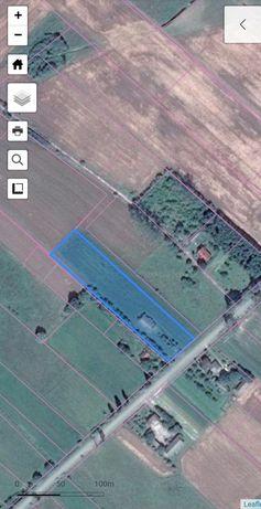Sprzedam działkę rolną z budynkiem gospodarczym