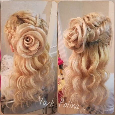 Свадебные причёски, плетение, окрашивание и лечение волос