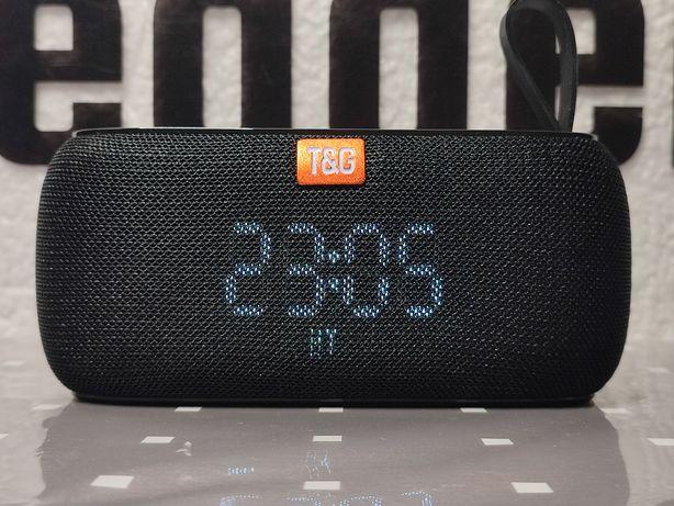 Oryginalny głośnik bluetooth T&G radio odtwarzacz kolor czarny
