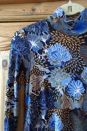 wzorzysta sukienka tunika ciążowa h&m mama m