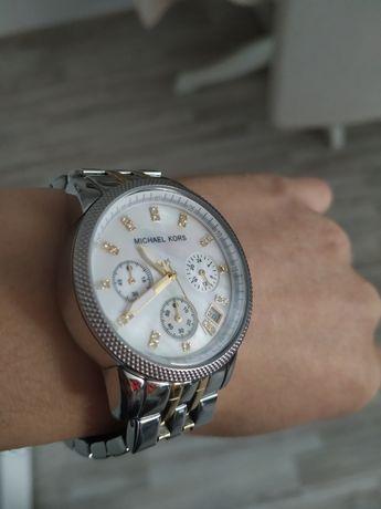 Zegarek Michael Kors złoto srebrny perłowa tarcza