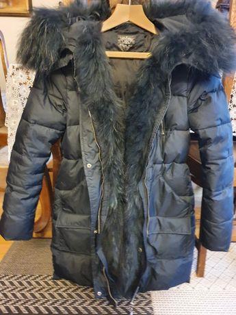 Płaszcz/ kurtka włoska naturalny jenot