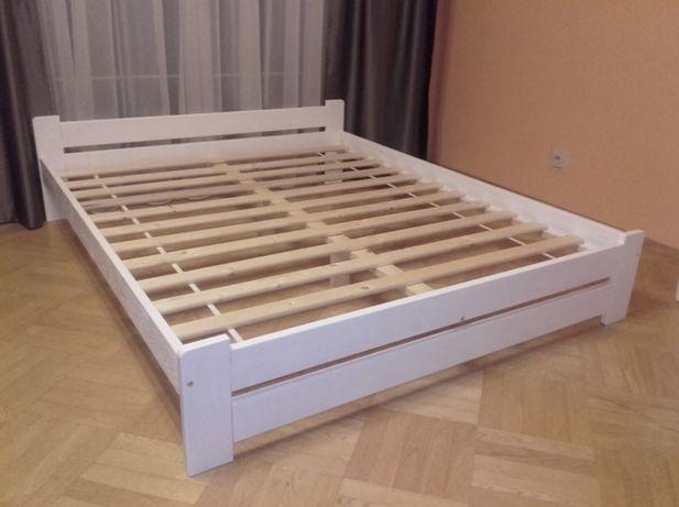 Łóżko białe czarne siwe jasna sosna 90,120,140,160,180x200 drewniane