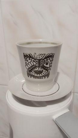 Кофейная чашка с блюдцем эпохи СССР. Новая.