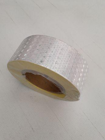 taśma odblaskowa samoprzylepna szer 5cm BIAŁA plaster miodu