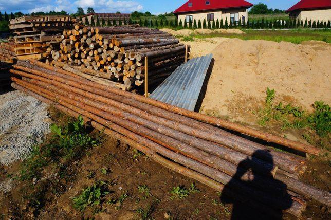 Stemple budowlane o długości 5,5m 12szt