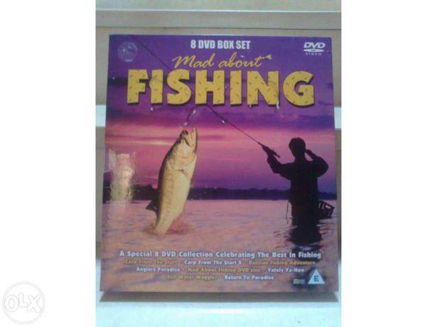 Colecção de 8 Dvds de Pesca