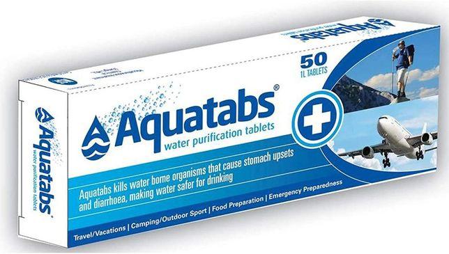 Aquatabs - Pastilhas de purificação de agua- 1 L - Autocaravana