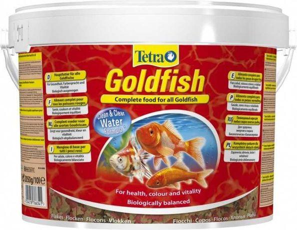 Корм для всіх видів золотих риб у вигляді пластівців Тетра 10 л