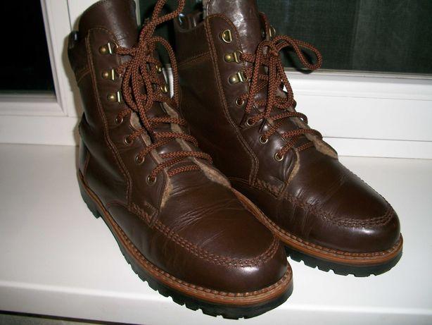 немецкие зимние кожаные ботинки натуральный мех 45размер