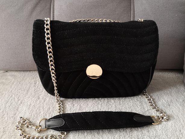 Skórzana pikowana torebka Zara