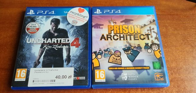Uncharted 4 i Prison architect ps4