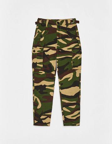 Bershka камуфляжные штаны брюки милитари