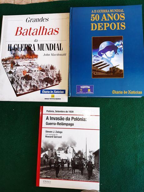 Livros antigos sobre a 2 Guerra Mundial