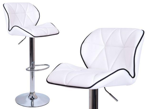 Hoker krzeslo barowe obrotowe Rossi białe do kuchni