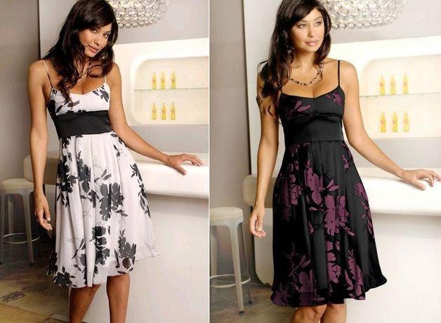 (10) BPC szyfonowa sukienka na ramiączka 42