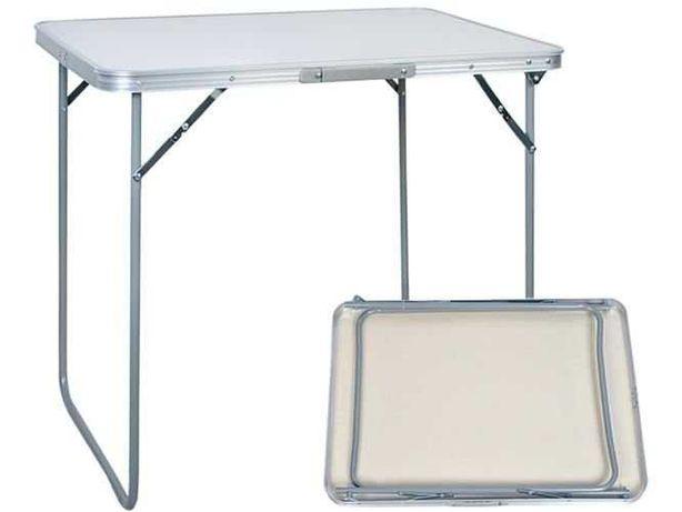 Mesa Campismo Dobrável Branca em alumínio Novas em caixa