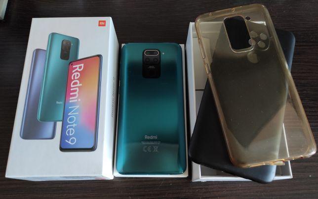 Xiaomi Redmi Note 9 3/64Gb. Коробка, документы, чехлы. Все работает.