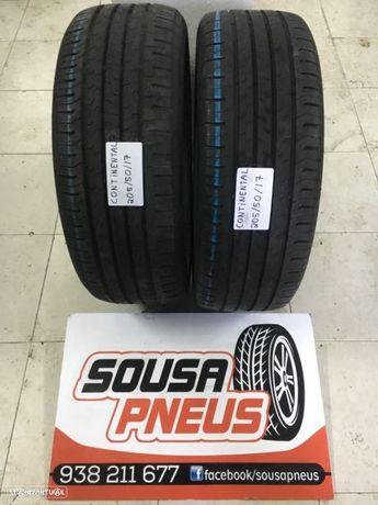 Entrega grátis 2 pneus semi novos continental 205-50-17