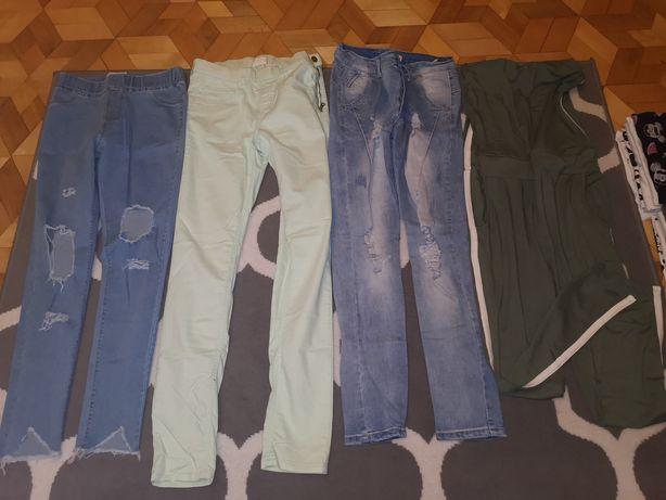 Spodnie zestaw 3 pary kombinezon rozm S M