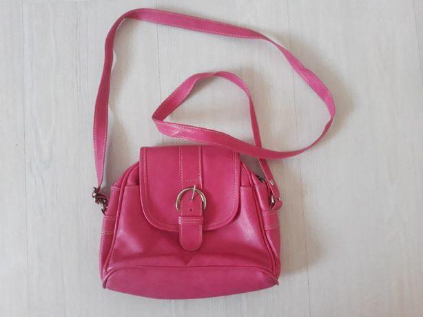 Розовая сумка/сумочка (кожа)