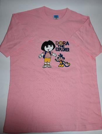 новая футболка с Дашей путешественницей и башмачком 8-9 лет wal-mart s