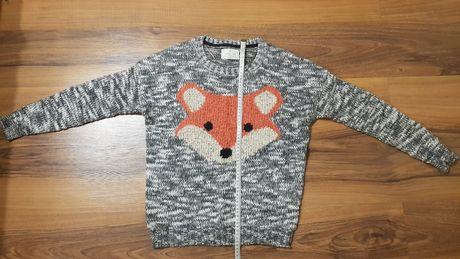 Sweter Bershka lis ciepły gruby M