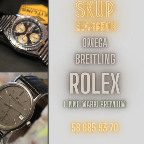 Skup zegarków za gotówkę Rolex Omega Breitling inne Lombard Zeus