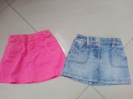 Spódnica, spódniczka, h&m, next 92, różowa, jeansowa