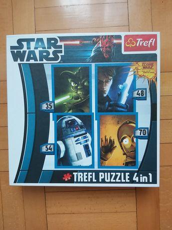 PUZZLE Trefl Star Wars - 207 elementów, 4 w 1