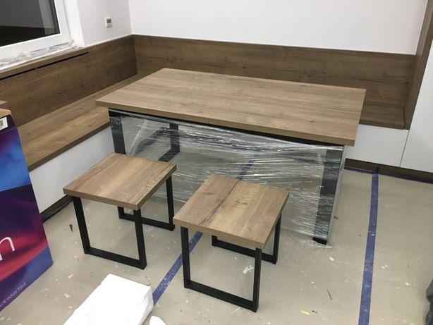 Nowy stół rozkładany 160 - 260 / 90 cm Egger dąb halifax tabak od ręki