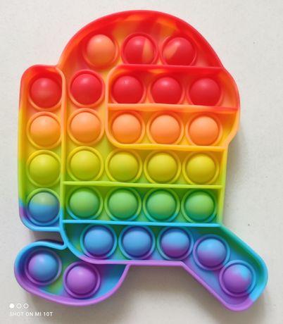 3 kolory Amongus Among US Popit Pop IT Bubble Gniotek Fidget