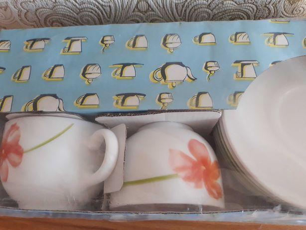 Чашки с блюдцами люминарк набор