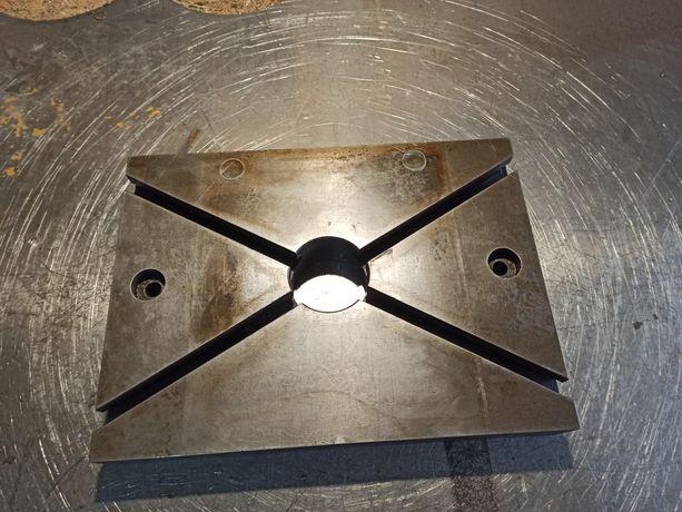 Stół teowy 360 mm x 485 mm prasa, wiertarka,