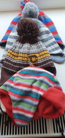 Комплект тёплых шапок на 1-3 года