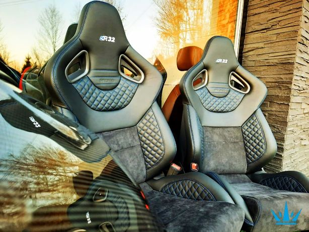 Fotele Recaro Wingback motorsport nowe new upholstery  fotele cs R8 rs