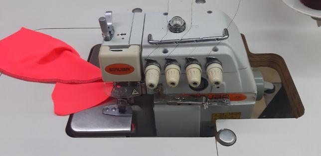 overlock siruba - 4 nitkowy (juki) szwalnicza krawiecka 230v do szycia