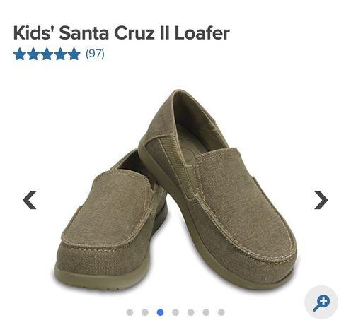 детские лоферы crocs