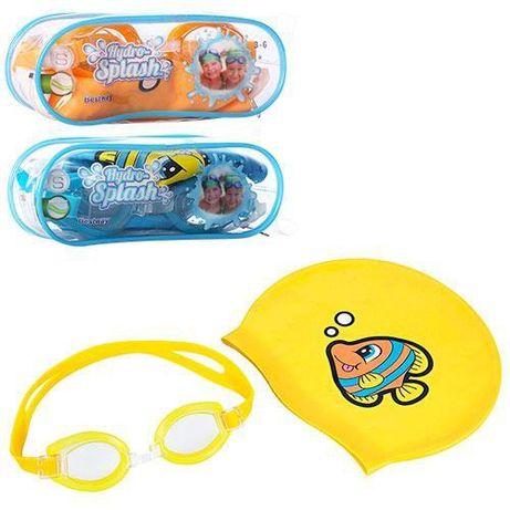Детский Набор для плавания Шапочка и очки для бассейна 3-6 лет