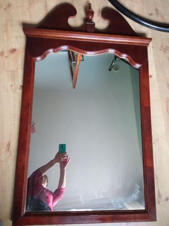 Piękne duże drewniane lustro Drexel
