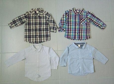 r. 86 koszule z długim rękawem H&M