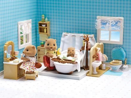 Новый набор Sylvanian family calico большая ванная комната. Оригинал