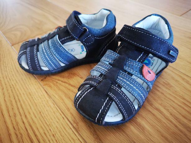 Sandałki chłopięce Lasocki r. 20 sandały letnie granatowe