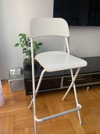 Krzesełko hoker ikea białe franklin