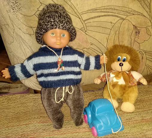 Набор игрушки мягкая игрушка кукла пупс мягконабивной 36см