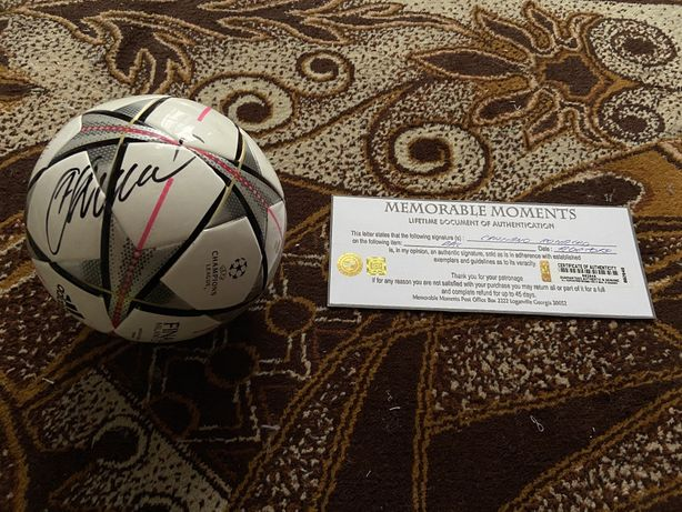 Piłka Cristiano Ronaldo oryginalny autograf Certyfikat