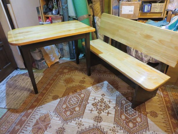 stół i ławka do kuchni lub na taras